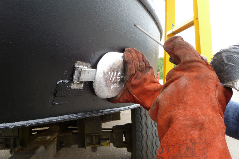 Welding new anodes on a narrowboat. Canal boat anodes need replacing approximately every 4 years