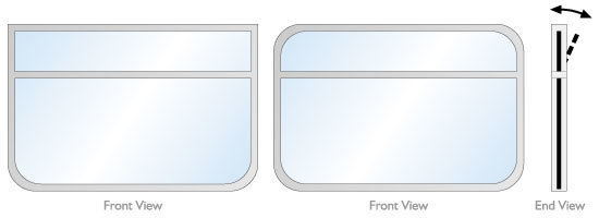 Hopper style rectangular windows for a narrow boat