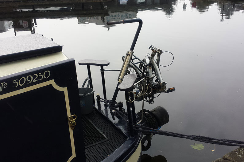 Folding bikes can easily be transported on narrow boat