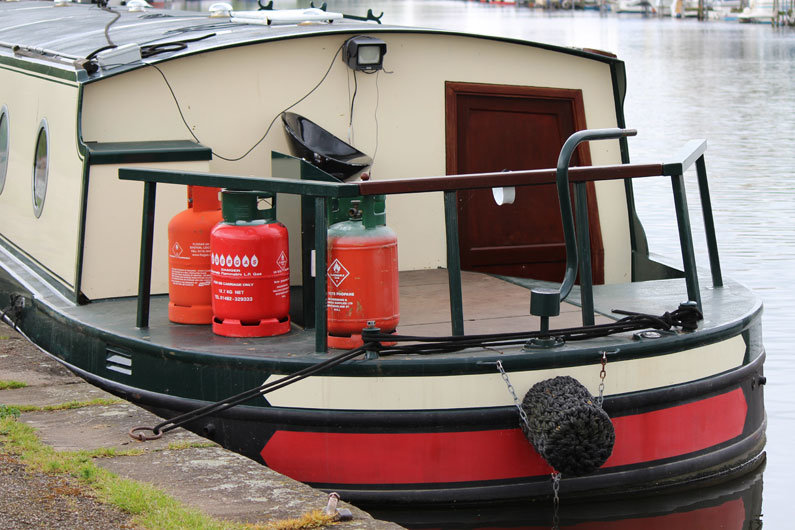 Gas can be used safely on-board a narrowboat with correct installation and storage