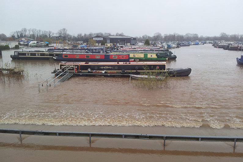 Narrowboat insurance may cover you in the event of flooding