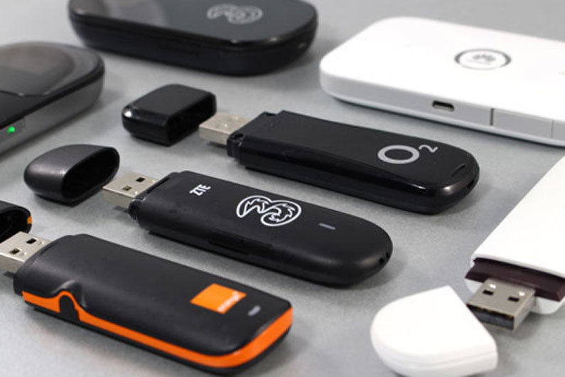 Mobile broadband dongles are one option for receiving internet on a narrowboat