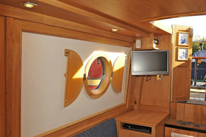 Sutters on a narrow boat will provide a black out solution to portholes or windows