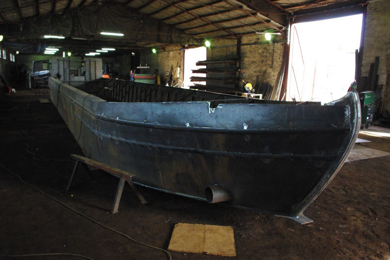 Narrowboat hull construction. Steel is the most common material used on narrow boat hulls