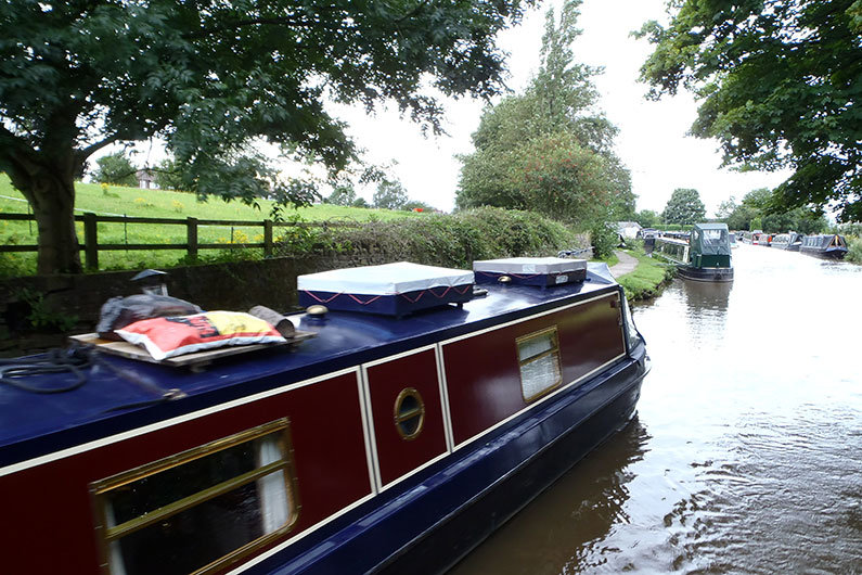 Roof storage on a narrowboat, utilising valuable space