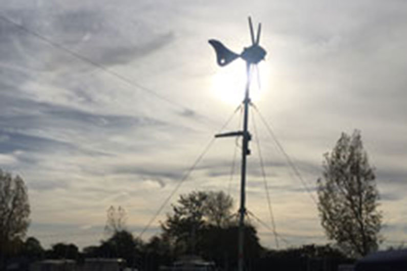 Wind turbines can be used as a supplementary method of charging on a narrowboat