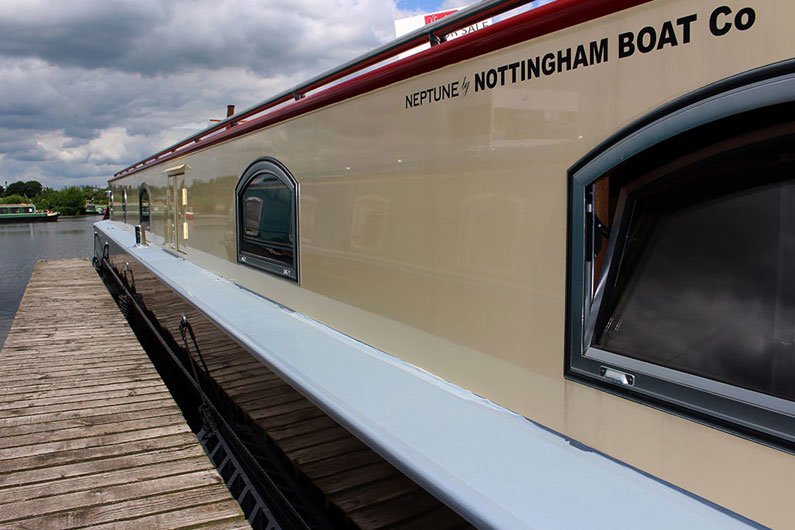 Full pane dutch barge style windows can be installed on to a narrow boat