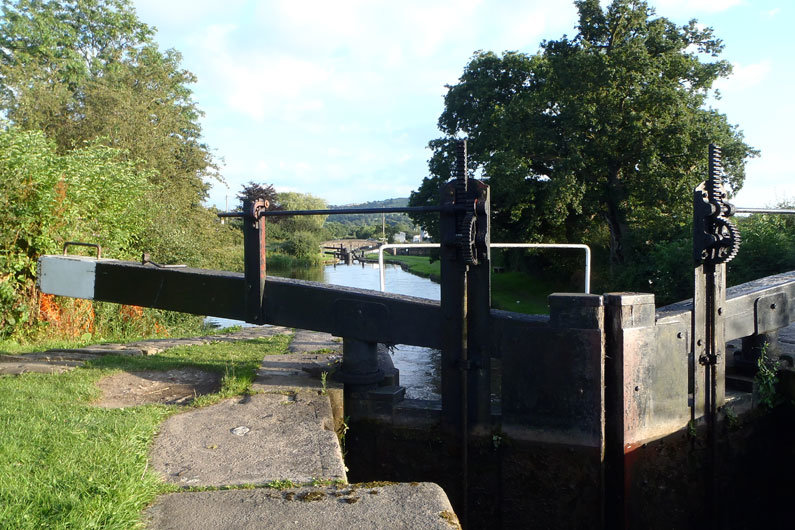A lock on one of the UK Canals & Rivers