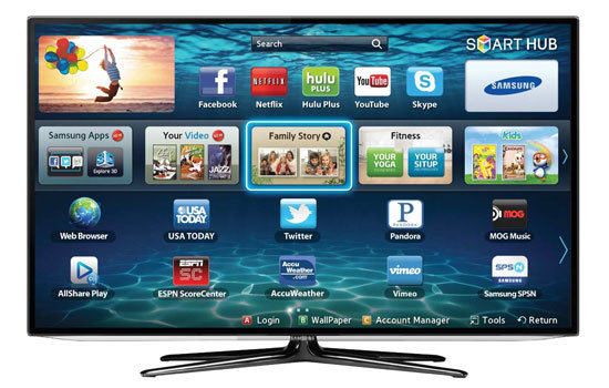 Smart TV's can be used on a narrowboat with the right internet equipment