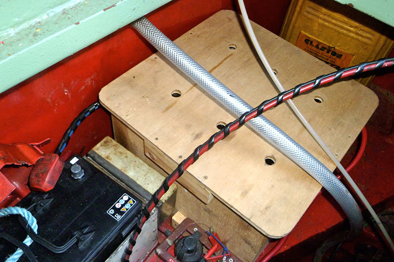 Batteries on narrowboats should be housed in a specially designed box