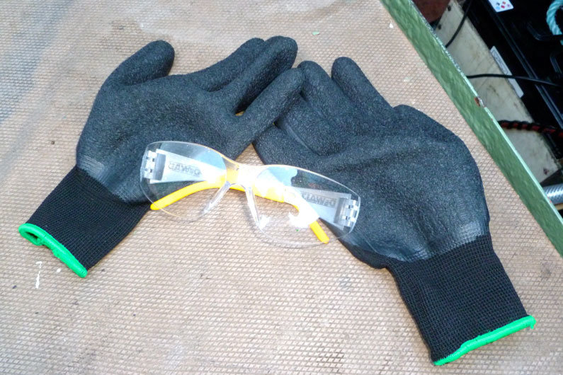 Protective equipment is vital when undertaking any maintenance on narrow boat batteries