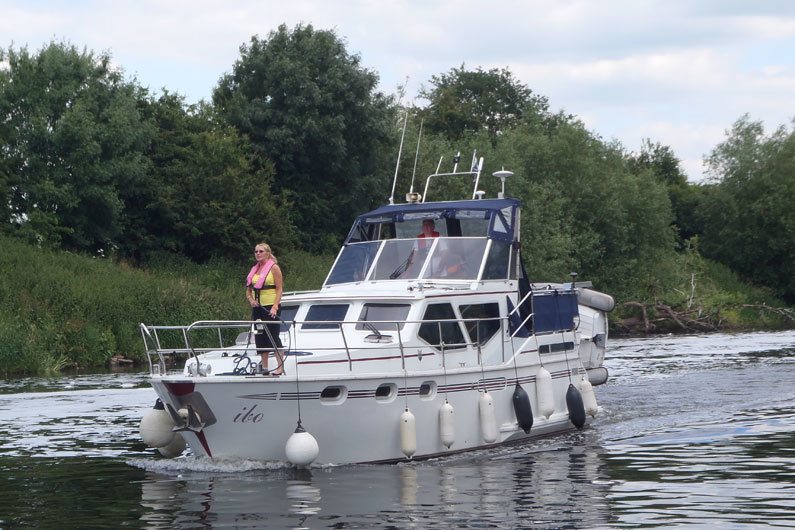 Cruisers are often seen on the UK rivers and Norfolk Broads