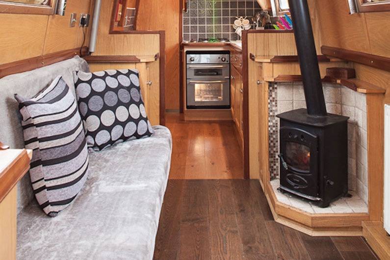 Solid fuel stoves are the most common heating option on a narrowboat