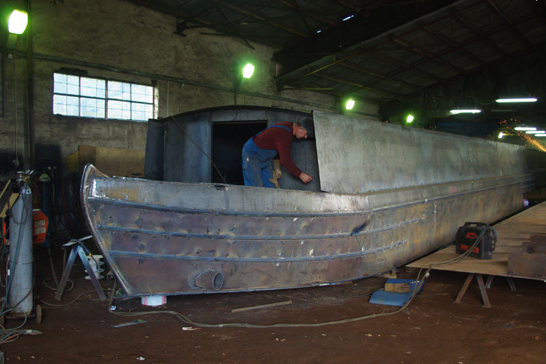 Narrowboat hulls were originally designed for carrying maximum freight