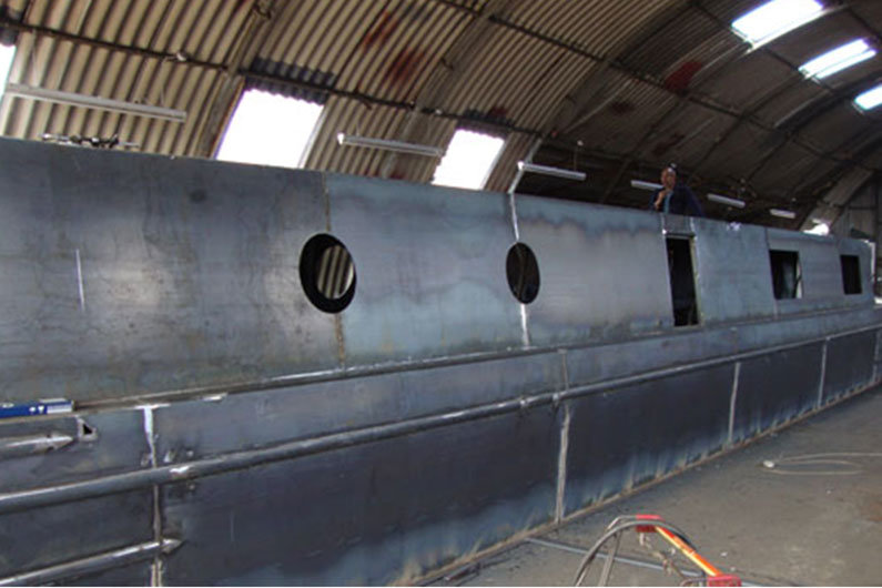 Buying a narrowboat shell or hull only is an ambitious project