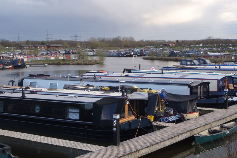 Marina moorings can often security and facilities for those wishing to moor their narrowboat