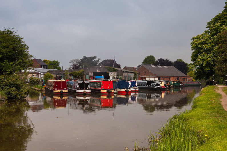 Moorings for narrowboats