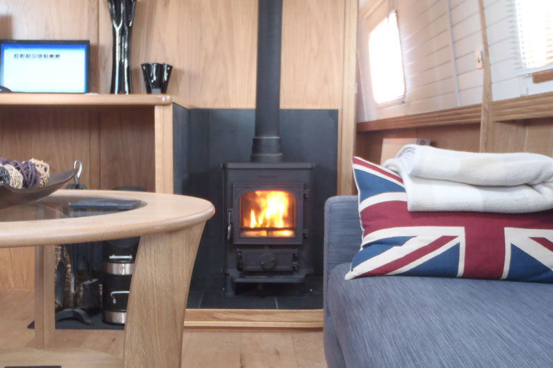 Narrow boats have plenty of heating options, from multi-fuel stoves to diesel central heating