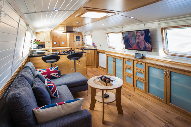 The ultimate in luxury living is a new build fully fitted narrowboat