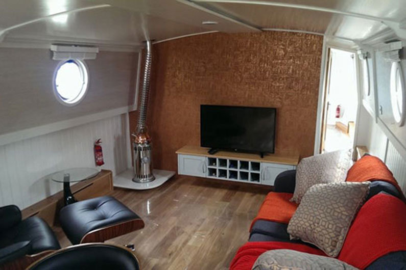 Oil fired heating is an alternative to a solid fuel stove on a narrowboat