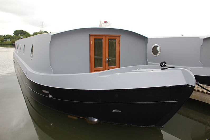 Narrowboat sailaway ready for fitting out and painting