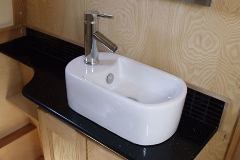 Narrowboat sinks come in a wide variety of shapes, sizes and materials