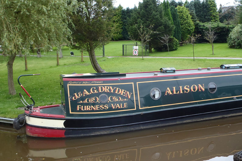 Traditional stern on a narrowboat means a small rear deck so living & carrying space is maximised