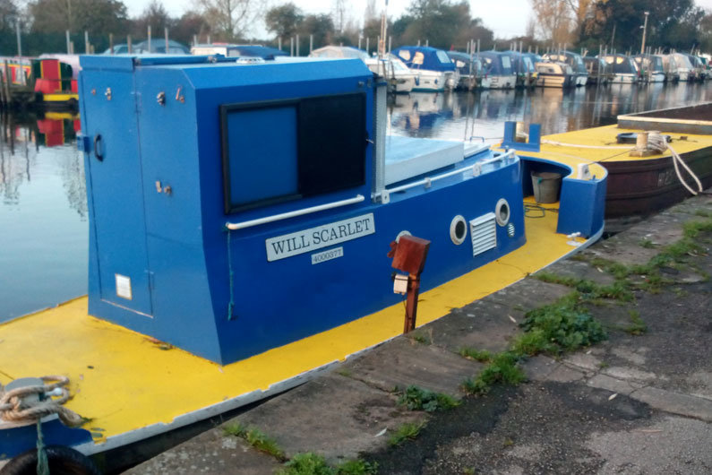 Canal & River Trust working boat which is partially funded by narrowboat licence payers