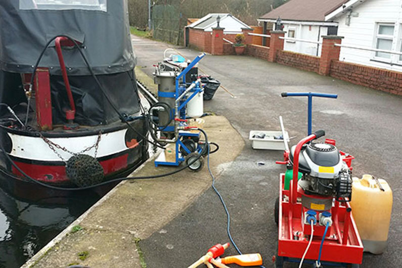 Eliminating diesel bug from a narrow boat fuel tank is often a job for professionals