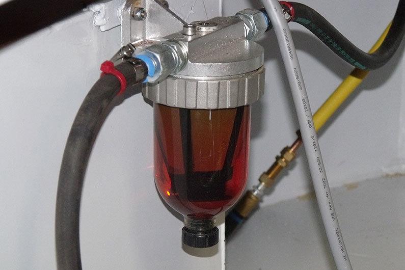 Narrowboat diesel filter