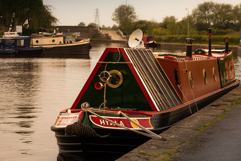 Traditional narrow boat horn