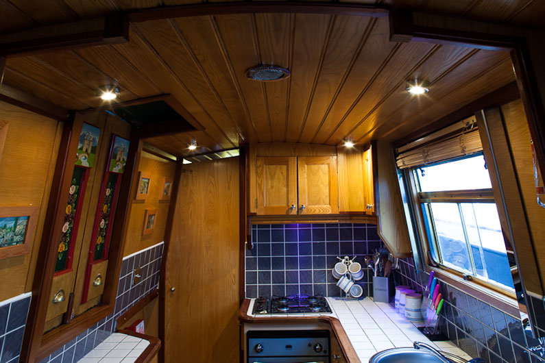 LED lighting has transformed the lighting options for narrowboats