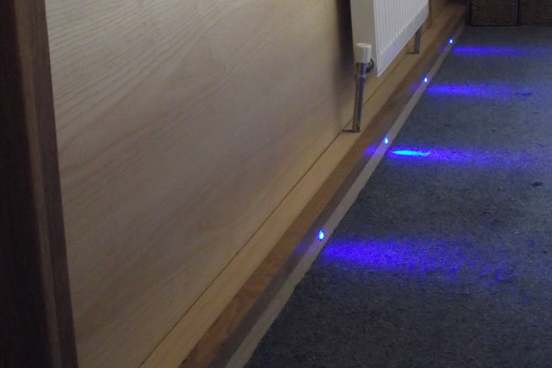 12v LED's can provide subtle mood lighting on a narrowboat