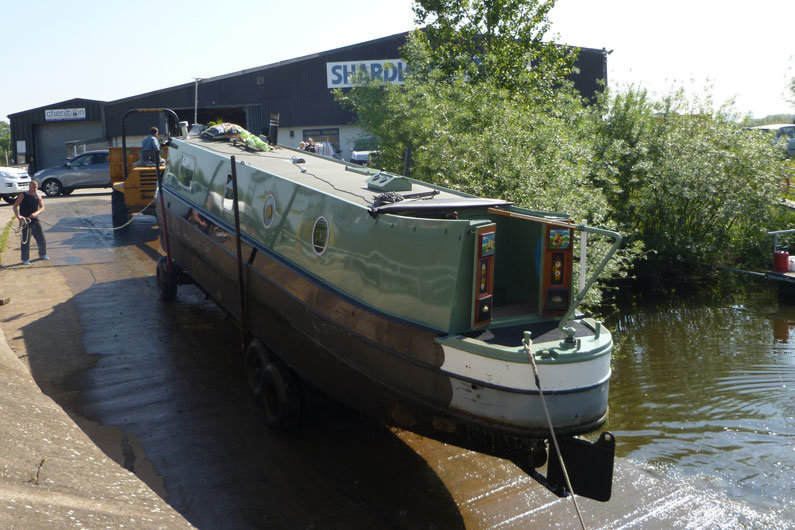 A narrowboat needs to come out of the water every 3-4 years for hull blacking