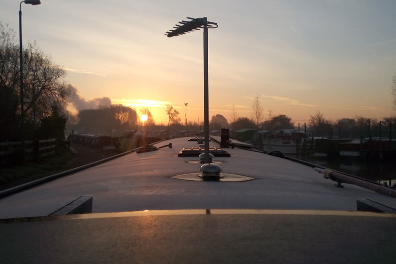 Winter months can be harsh on a narrowboat