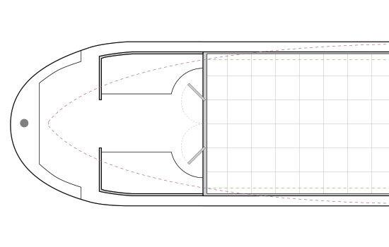 Narrowboat Hull Design Ideas, Semi-Traditional Stern - Semi-Trad Stern