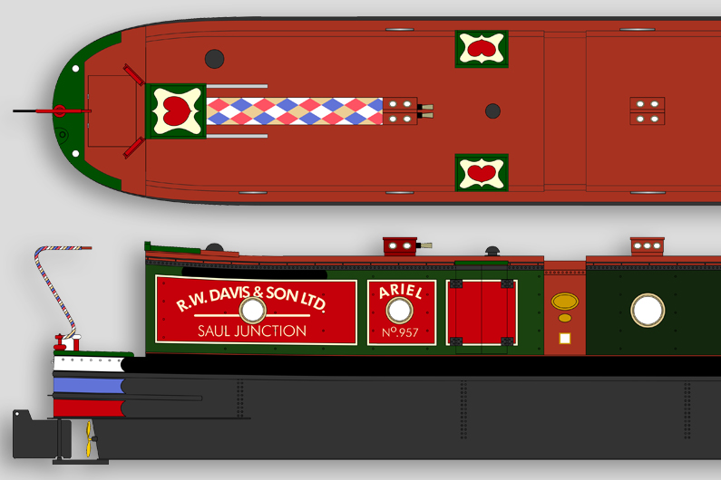 Tradition Narrowboat Paint Schemes