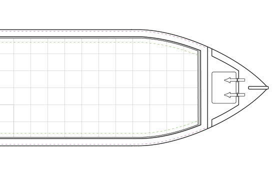 Narrowboat Hull Enclosed Bow Dimensions