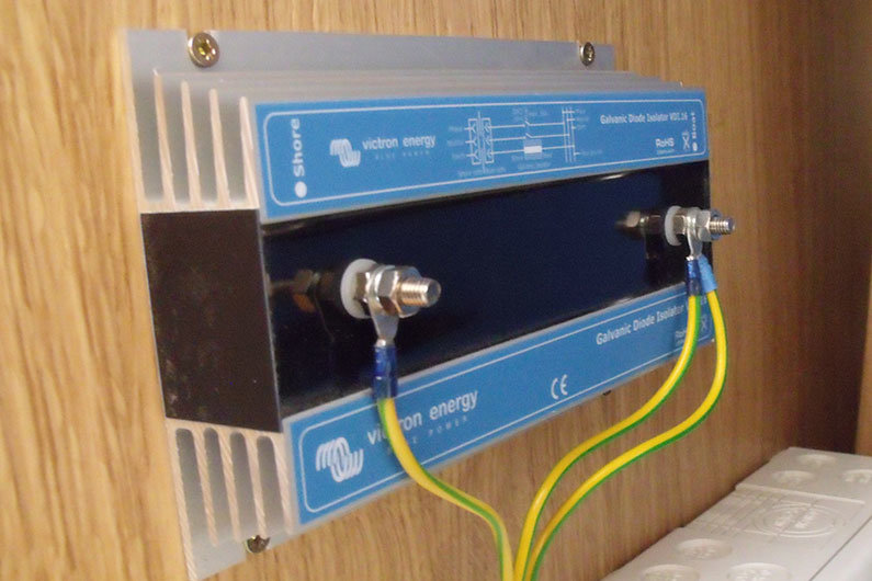 A narrowboat galvanic isolator can reduce the damage from galvanic corrosion
