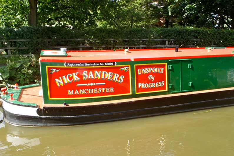 Narrowboat sign writing is a long established art form on the waterways