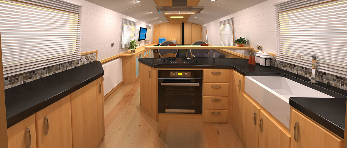 Widebeam, Wide Beam, Narrowboat 3D CGI Modelling, Rendering & Animations