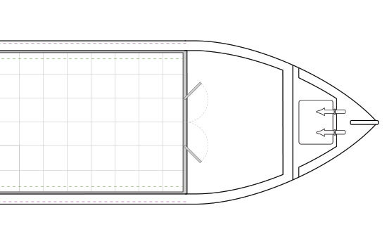 Narrowboat Hull Standard Bow Dimensions