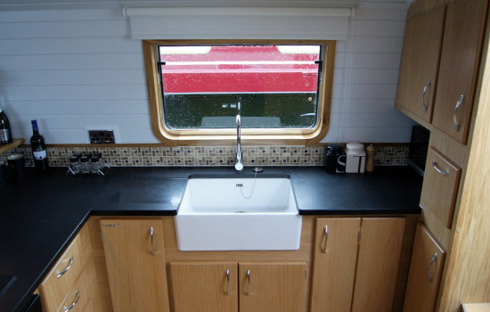 Galley design on new fully fitted widebeam canal boat