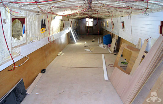 First fix on a new widebeam canal boat 02