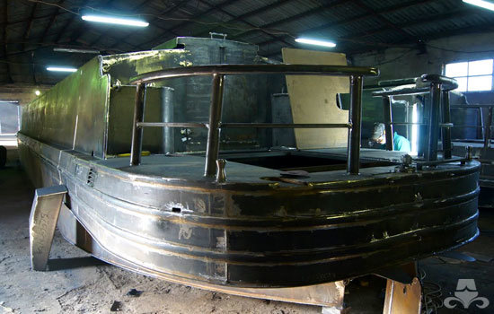 Widebeam canal boat completed hull