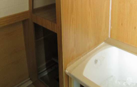 Bathroom fit out on a new widebeam canal boat 03