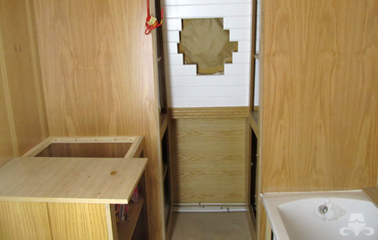 Bathroom fit out on a new widebeam canal boat 04