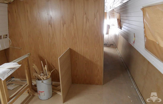 Fit out of the galley & saloon on a new fully fitted widebeam canal boat 02