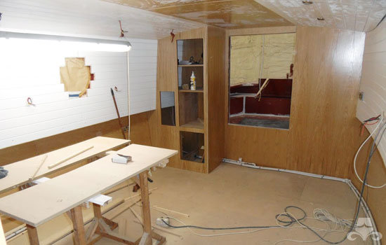 Master bedroom fit out on a new fully fitted widebeam canal boat 06