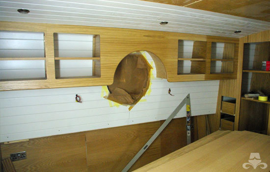 Master bedroom fit out on a new fully fitted widebeam canal boat 14